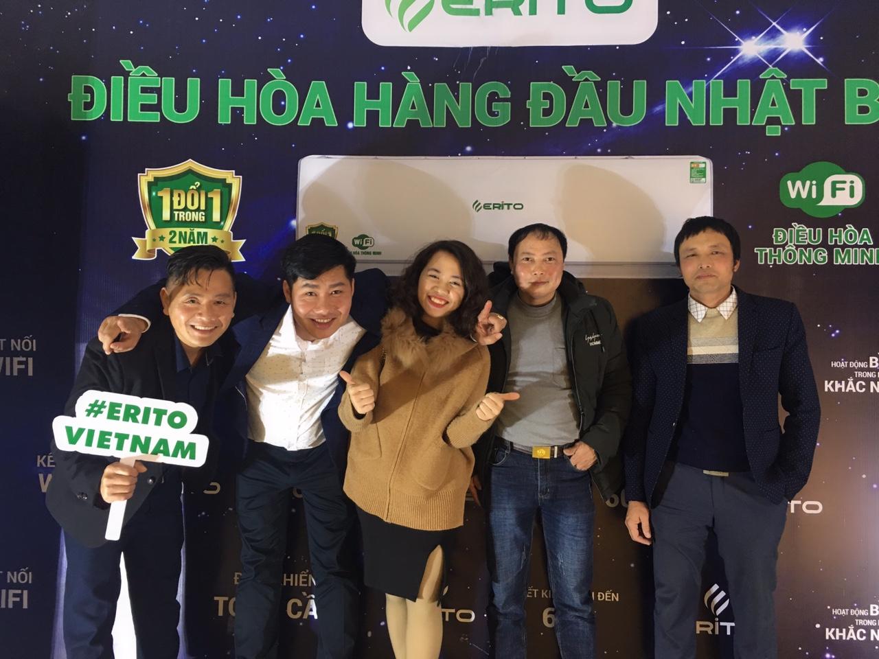 ĐIỀU HÒA ERITO HÂN HẠNH ĐỒNG HÀNH CÙNG GALA 2019 CLB ĐIỆN TỬ ĐIỆN LẠNH HẢI PHÒNG
